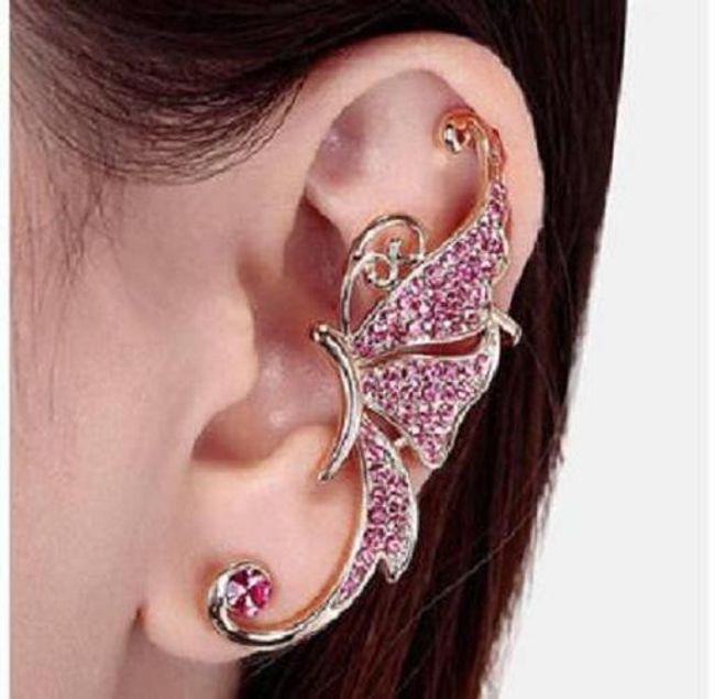 Náušnice na celé ucho - motýl 1