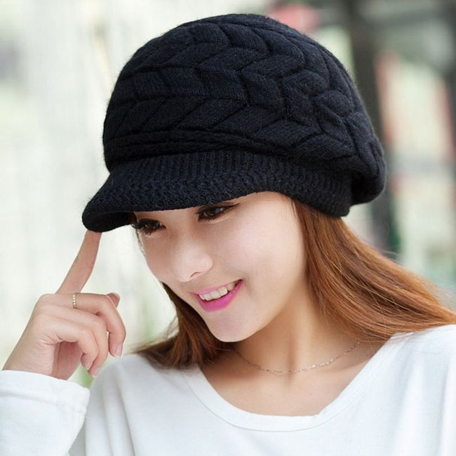 Čepice s kšiltem - černá 1