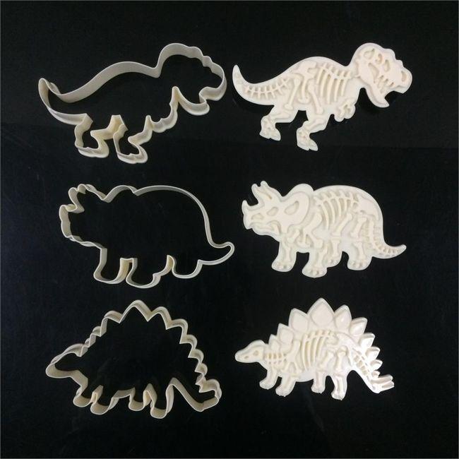 Vykrajovátka ve tvaru dinosaurů - 6 kusů 1