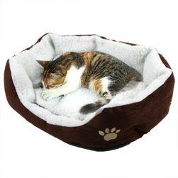Pohodlný pelíšek pro kočky a psy se vzorem tlapky